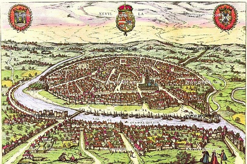 Mapa antiguo de Sevilla