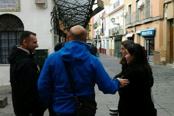 En el mercado de abastos de Sevilla